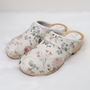 Moheda Toffeln Swedish Floral Clogs 41